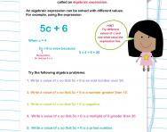 Solving algebra problems worksheet