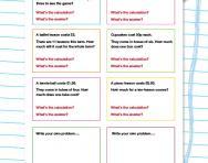 Solving money problems: Addition worksheet