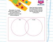 Sorting data using a Venn diagram worksheet