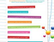 Sorting healthy statements worksheet