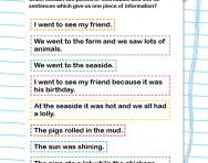 Sorting sentences worksheet