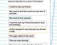 Sorting sentences worksheet