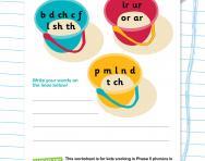 Sound buckets: using ir, or, ar and ur worksheet