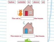 Spatial awareness vocabulary worksheet