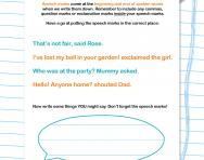 Speech marks explained worksheet