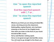 Speech punctuation worksheet