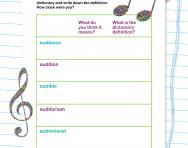 Spelling patterns: the prefix audi- worksheet