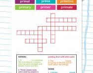 Spelling patterns: the prefix prim-