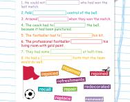 Spelling patterns: the prefix re- worksheet