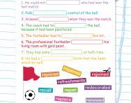 Spelling patterns: the prefix re- worksheet