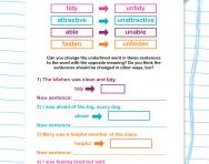 Spelling patterns: the prefix un-