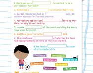 Spelling patterns: words ending -cious / -tious football worksheet