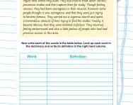 Spelling patterns worksheet: words ending -ous