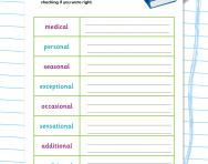 Spelling patterns: the suffix -al