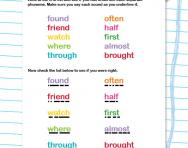 Spelling tricky words Y2 worksheet