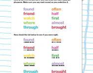 Spelling tricky words Y2 worksheet