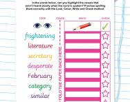 Spelling unstressed vowel words worksheet