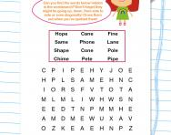 Split digraph wordsearch