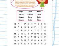 Split digraph wordsearch