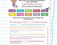 Split digraphs revision football worksheet