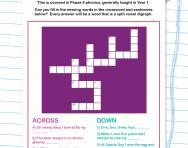 Split vowel digraph crossword