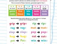 Split vowel digraph words and sentences worksheet