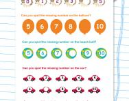 Spot the missing numbers worksheet