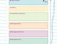 Story writing planning cards worksheet