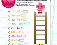 Subtracting negative numbers worksheet