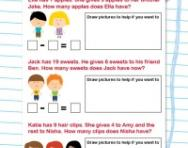Subtraction story problems worksheet
