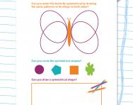 Symmetry explained worksheet