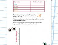 Tallies and bar charts worksheet