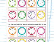 Telling the time to the nearest minute (12-hour clock)