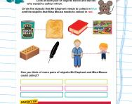 The vocabulary of weight worksheet