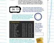 Time intervals puzzle worksheet