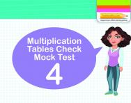 Multiplication Tables Practice Check 4