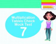 Multiplication Tables Practice Check 7