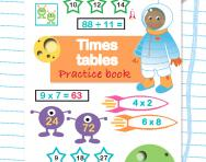 Times tables practice book learning pack
