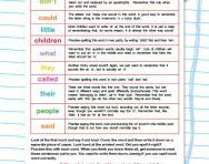 Tricky spellings practice worksheet
