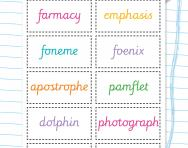 Tricky spellings words containing 'ph' worksheet