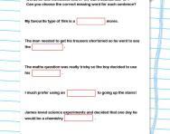 Tricky spellings: words ending in or worksheet