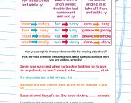 Turning nouns into adjectives worksheet