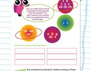 Two-letter vowel sounds: /ee/ /oo/ /ur/ worksheet