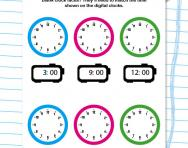 Understanding clock faces to the hour worksheet