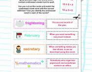 Unstressed vowel words worksheet