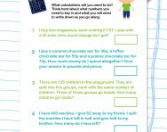 Using a calculator for two-step problems worksheet