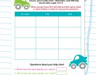 Using a tally chart to investigate worksheet