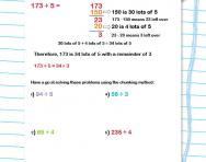 Using chunking to divide worksheet