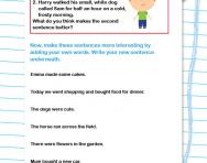 Using descriptive words worksheet