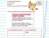 Using emotive language worksheet